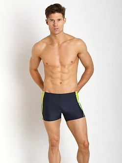 Speedo Fitness Splice Square Leg New Navy