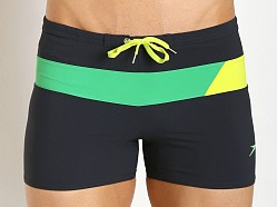 Speedo Horizontal Prism Splice Swim Trunk New Navy