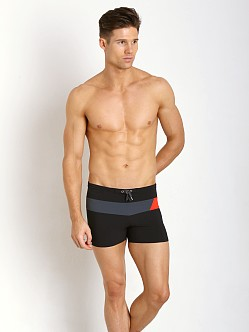 Speedo Horizontal Prism Splice Swim Trunk Black