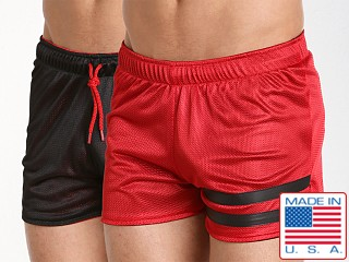 Cell Block 13 Tight End Reversible Shorts Red/Black