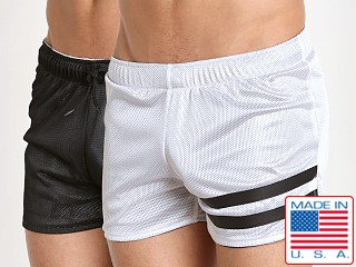 Cell Block 13 Tight End Reversible Shorts White/Black