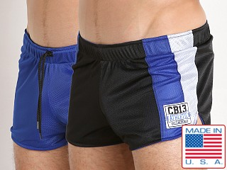 Cell Block 13 Sweeper Reversible Short Blue