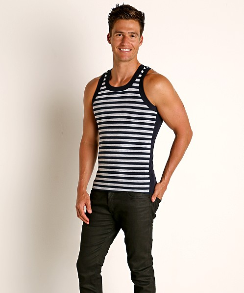 Modus Vivendi Striped Tank Top Grey