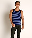 Modus Vivendi Striped Tank Top Blue, view 1