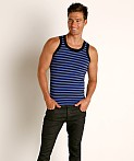 Modus Vivendi Striped Tank Top Blue, view 2