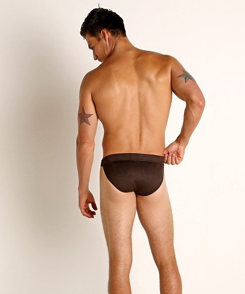 Modus Vivendi Vegan Suede Sports Brief Brown