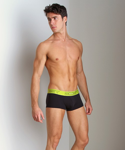 2xist Touch Ultra Contour Pouch No-Show Trunk Green/Black