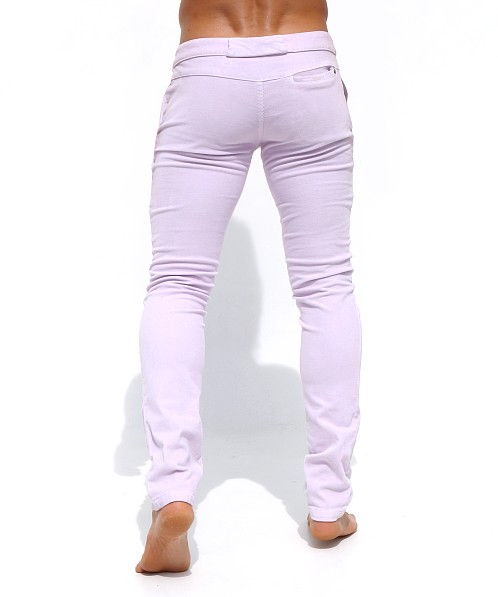 Rufskin Bobby Stretch Cotton Corduroy Slacks Light Lavender