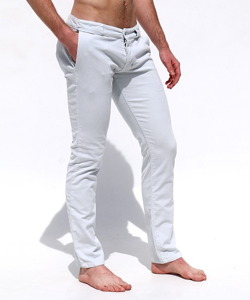 Rufskin Bobby Stretch Cotton Corduroy Slacks Sea Breeze