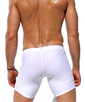 Rufskin Gage Stretch Nylon Cycle and Swim Shorts White, view 4