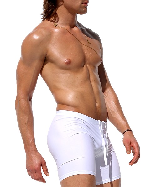 Rufskin Gage Stretch Nylon Cycle and Swim Shorts White
