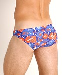 St33le Printed Micro Low-Cut Swim Brief Royal/Red Floral, view 4