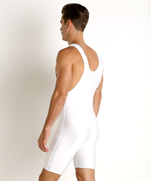 Matman Heavyweight Lycra Wrestling Singlet White