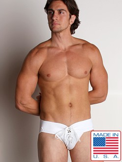 Activeman Lace-up Jockstrap White