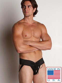 Activeman Lace-up Jockstrap Black