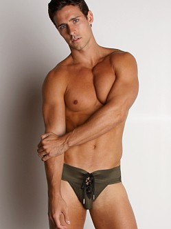 Activeman Lace-up Jockstrap Green
