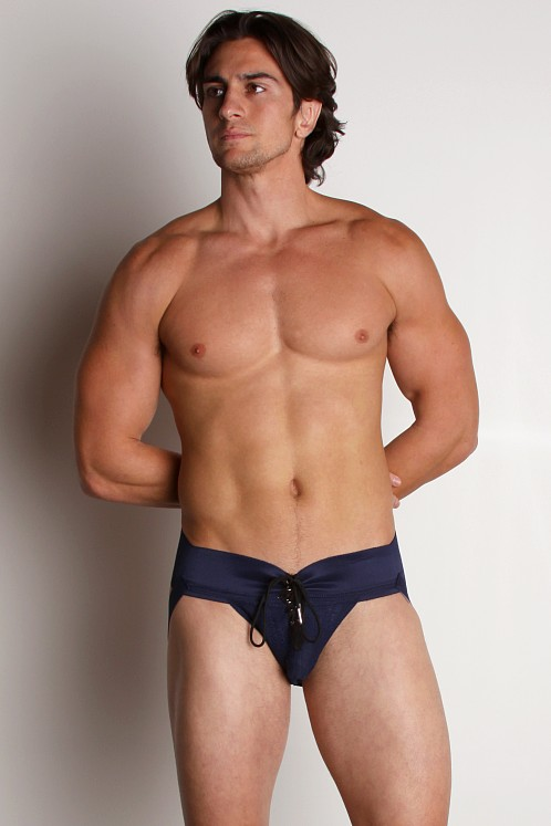 Activeman Lace-up Jockstrap Navy