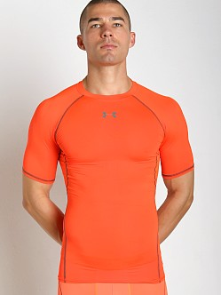 Under Armour Heatgear Shortsleeve Compression Tee Bolt Orange