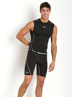 Under Armour Heatgear Sleeveless Compression Muscle Tee Black