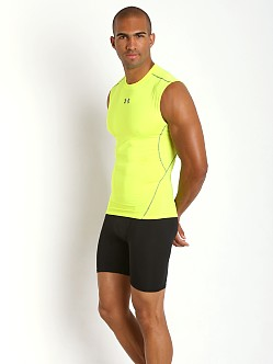 Under Armour Heatgear Sleeveless Compression Muscle High Vis Yel