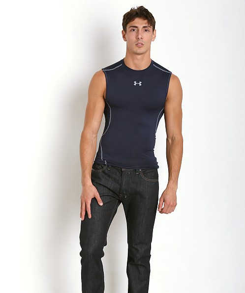 Under Armour Heatgear Sleeveless Compression Muscle Tee Midnight