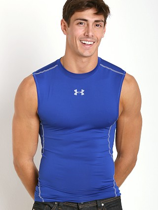 Under Armour Heatgear Sleeveless Compression Muscle Tee Royal