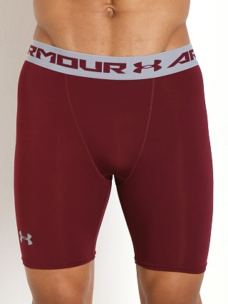 Under Armour Heatgear Armour Compression Short Maroon