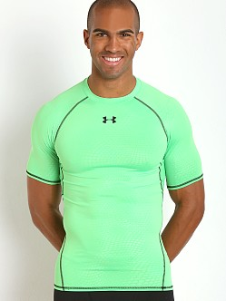 Under Armour Heatgear Rattlesnake Compression Tee Green Energy