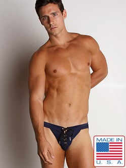 Activeman Lace-up Swimmer Jockstrap Navy