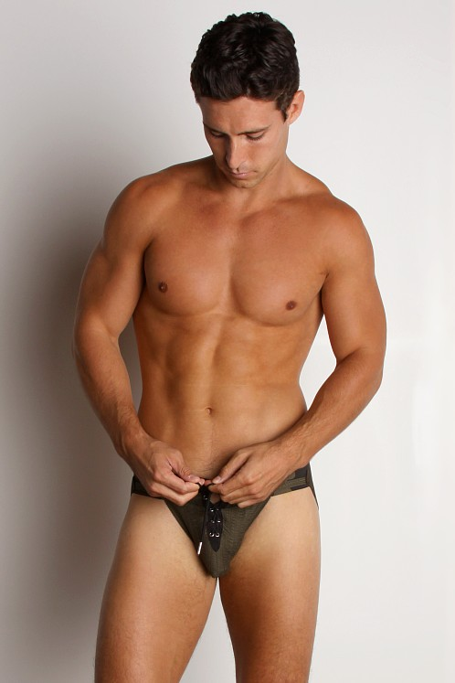Activeman Lace-up Jockstrap Camouflage