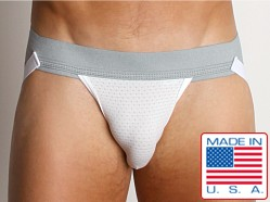 Activeman Vented Performance Jockstrap Heather Grey/White