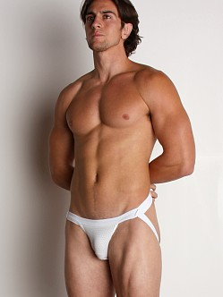 Activeman Vented Performance Swimmer Jockstrap White