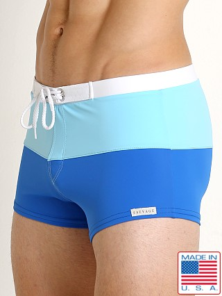 Sauvage Riviera Splice Swim Trunk Royal/Sky/White