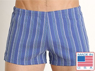 Sauvage Italian Nylon/Lycra Classic Trunk Royal Stripe