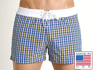 Sauvage Como Italia Plaid Swim Trunk Nautical
