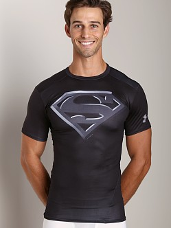 Under Armour Superman Black Compression Shirt