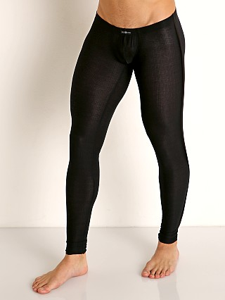 Model in black Gregg Homme Physical Modal Low Rise Leggings