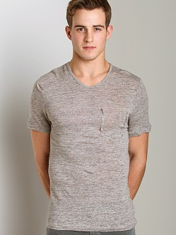 Joe's Jeans Billie V-Neck Shirt Heather Grey