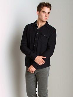 Joe's Jeans Reversible Relax Round Pocket Shirt Midnight