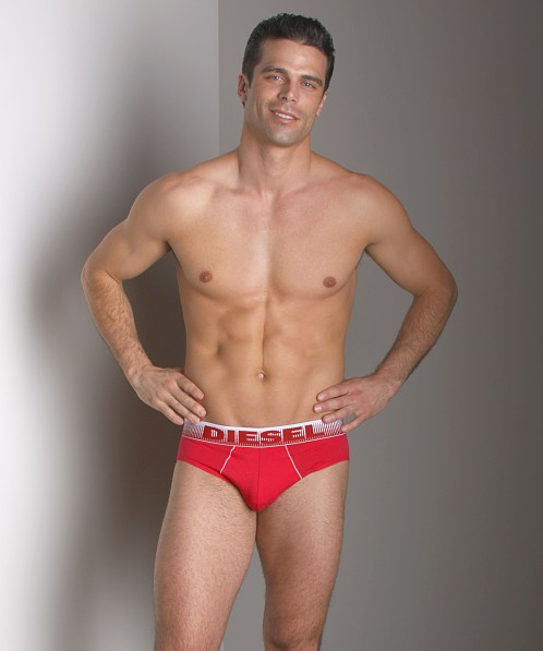 Diesel Color Trim Andre Brief Red