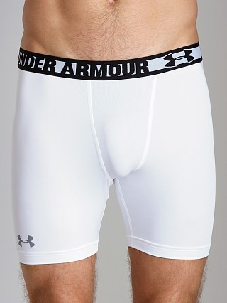 Complete the look: Under Armour HeatGear Sonic Compression Short White/Steel