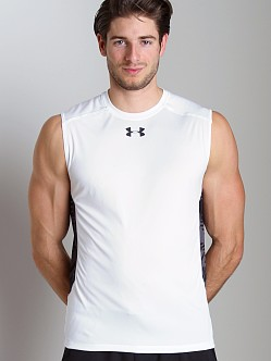 Under Armour HeatGear Flyweight Sleeveless T White/Black