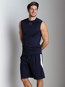 Under Armour HeatGear Flyweight Sleeveless T Midnight Navy