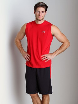 Under Armour Charged Cotton Sleeveless T Red