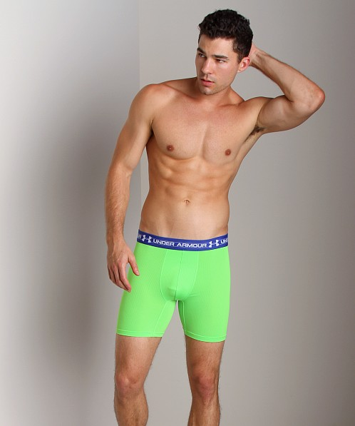"Under Armour Mesh 6"" Boxerjock Poison Green"