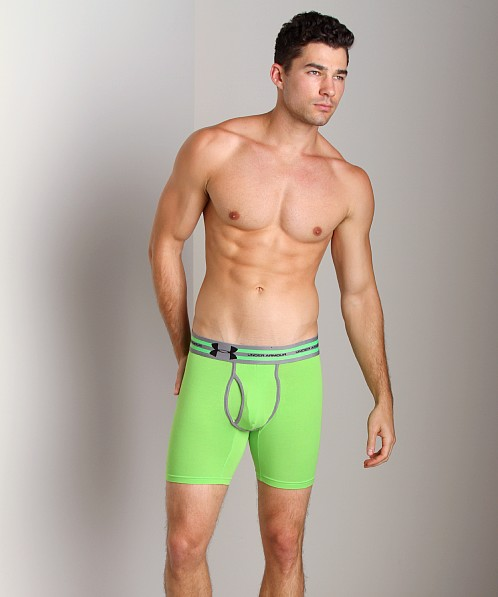 "Under Armour Charged Cotton 6"" Boxerjock Poison Green"