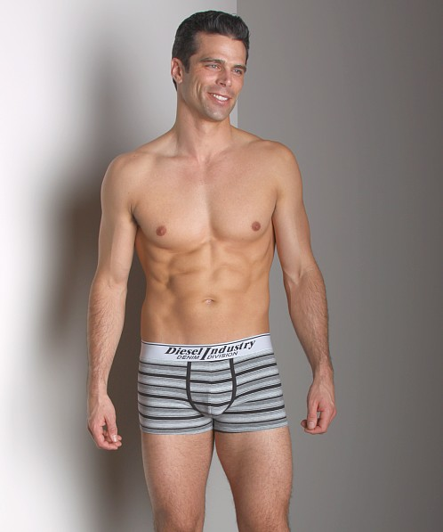 Diesel Striped Shawn Trunk White