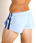 LASC Performance Mesh Running Shorts Baby Blue/Navy, view 4