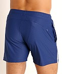 LASC Performance Mesh Active Shorts Navy/White, view 4