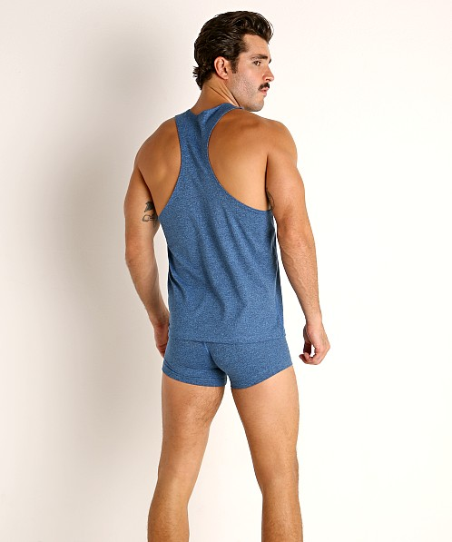LASC Workout Tank Top Cobalt Heather